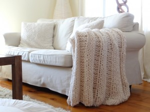 Picture of Chunky Blanket Knitting Pattern Designs