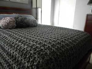 Chunky Knitting Blanket Pattern Instruction Images