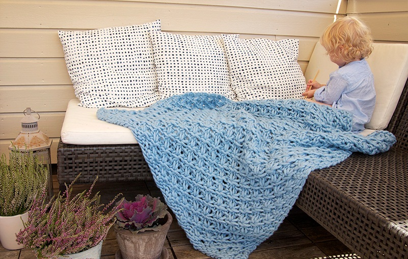 Chunky Knit Blanket Pattern A Knitting Blog