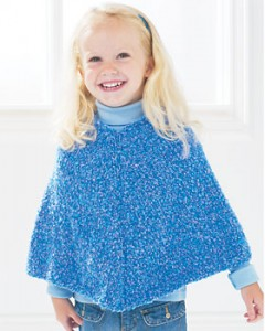 Photos of Easy Kids Poncho Knitting Pattern