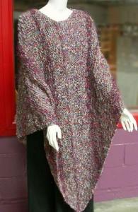 Garter Stitch Side To Side Poncho Knitting Pattern Photos