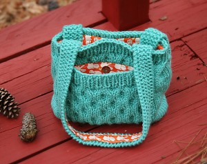 Honeycomb Purse Knitting Pattern Picture