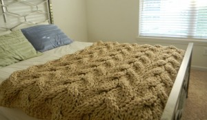 Images of Knit Chunky Blanket Pattern Tutorial