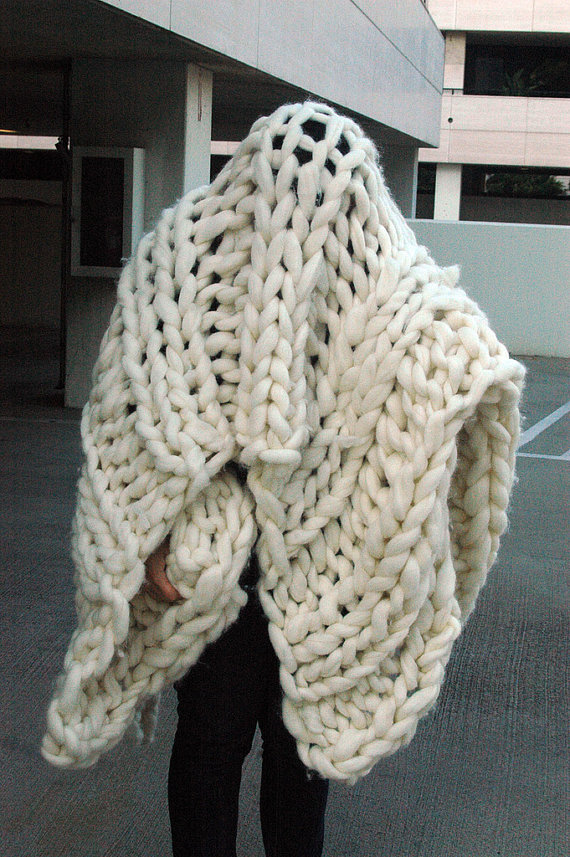 Chunky Knit Blanket Pattern - A Knitting Blog
