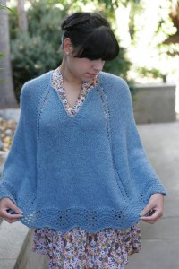 Knitted Poncho Pattern Image