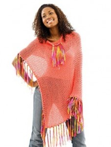 Poncho Knitting Pattern Picture