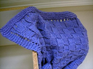 Basket Weave Baby Blanket Knitting Pattern Picture