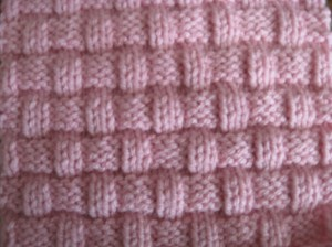 Basket Weave Knitted Block Pattern Pictures