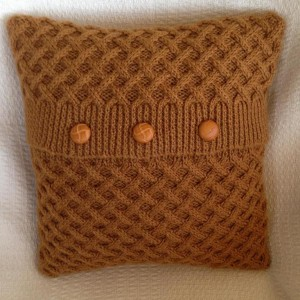 Basket Weave Pillow Cover Knitting Pattern Photo