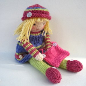 Betsy Button Knitted Doll Pattern Images