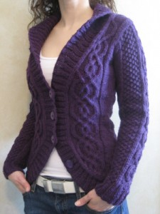 Cabled Knit Cardigan Pattern Pictures