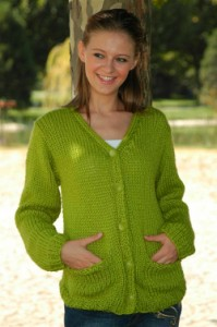 Comfortable Pocket Cardigan Knitting Pattern Photos