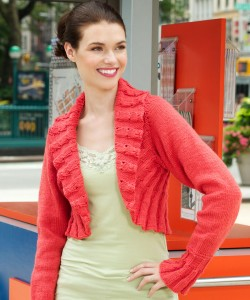 Pictures of Comfy Shrug Knitting Pattern