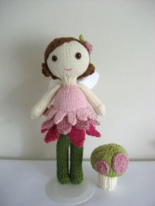 Fairy Doll and Mushroom Knitting Pattern Photos