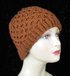 Photos Honeycomb Hat Knitting Pattern