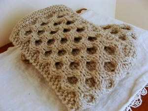 Honeycomb Scarf Knitting Pattern Pictures