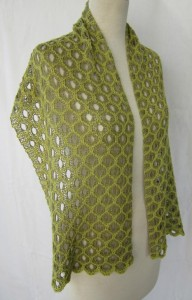 Honeycomb Shadow Lace Stole Knitting Pattern Photo
