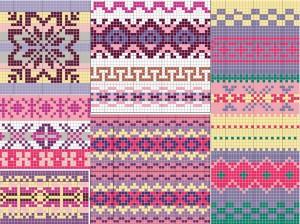 Fair Isle Knitting Pattern Image