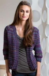 Pictures of Moon Shadows Cardigan Knit Pattern