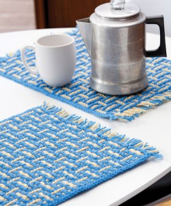 Pictures of Mosaic Basketweave Placemat Knitting Pattern