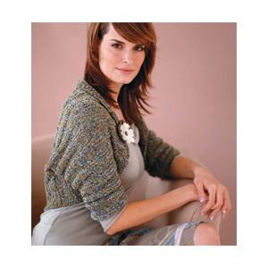 Rolled Collar Shrug Knitting Pattern Photo