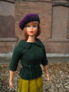 Pictures of Barbie Doll Sweater With Collar Knitting Pattern