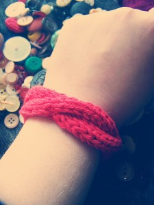 Pictures of Button Bracelet Knitted Pattern