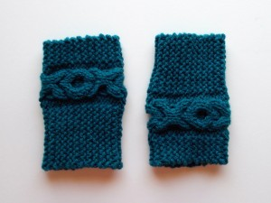 Picture of Cable Boot Cuffs Knitting Pattern