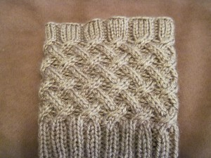 Cabled Boot Topper Knitting Pattern Picture
