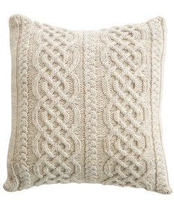 Celtic Aran Pillow Knitting Pattern Photos