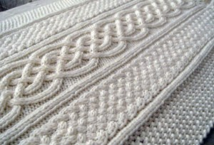Celtic Blanket Knitting Pattern Images