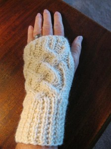 Pictures of Celtic Cable Fingerless Gloves Knitting Pattern