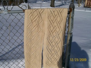 Images of Celtic Knot Scarf Knitting Pattern