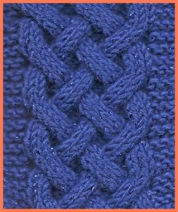 Photos of Celtic Plait Cable Knitting Pattern