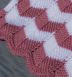 Picture of Chevron Blanket Quilt Pattern