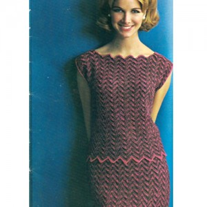 Chevron Dress Knitting Pattern Pictures