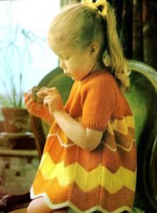 Chevron Little Girl Dress Pattern Images