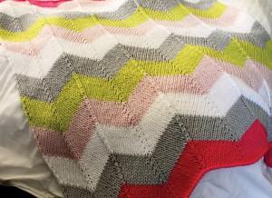 Chevron Quilt Baby Blanket Pattern Image