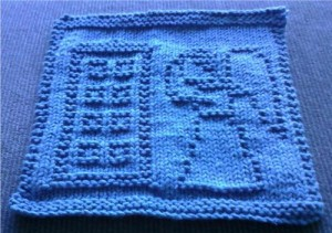 Doctor Who Angels Blue Box Dishcloth Knit Pattern Images