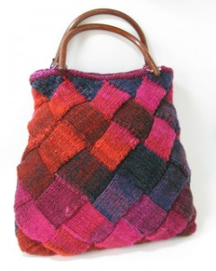 Photos of Entrelac Small Bag Knitted Pattern