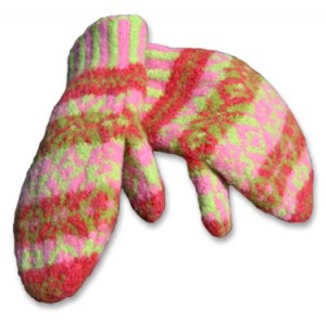 Felted Mittens Knitting Pattern Photos