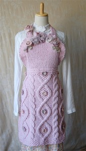 Fleur Apron Knitted Pattern Photos