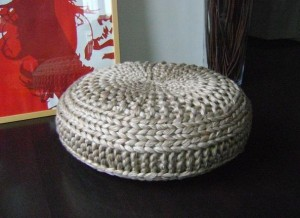 Floor Cushion Pouf Knitting Pattern Images