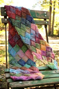 Free Entrelac Scarf Knitting Pattern Images