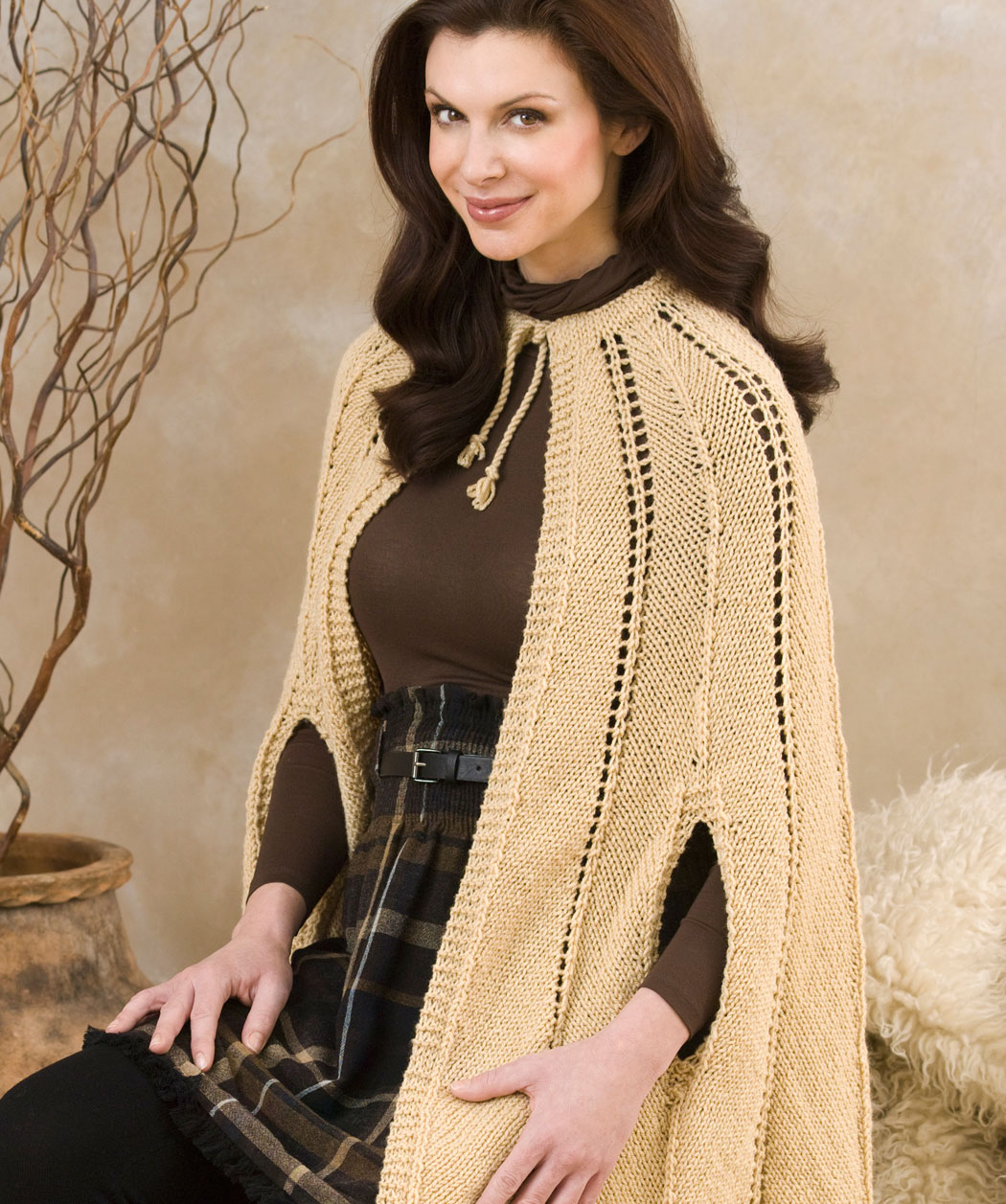 Beautiful Free Knit Cape Pattern Pictures - Blanket Knitting Pattern ...