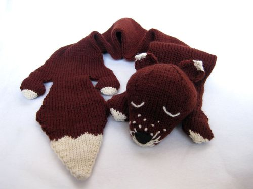 Knitted Fox Scarf Pattern A Knitting Blog