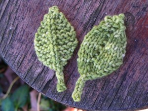 Free Knitted Leaf Patterns Pictures