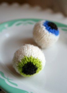 Halloween Eyeballs Knitted Patterns Photos
