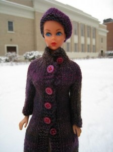Photos of High Collar Coat Barbie Knitting Pattern