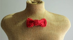 Pictures of Knit Bow Necklace Tie Pattern